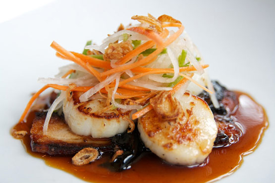 Summer 2011: seared hervey bay scallops