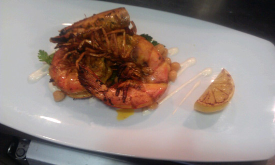 Manly Winter Menu Feature: wood roasted chermoula king prawns