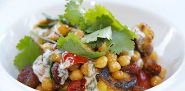 Menu Feature – chermoula prawn & chorizo salad