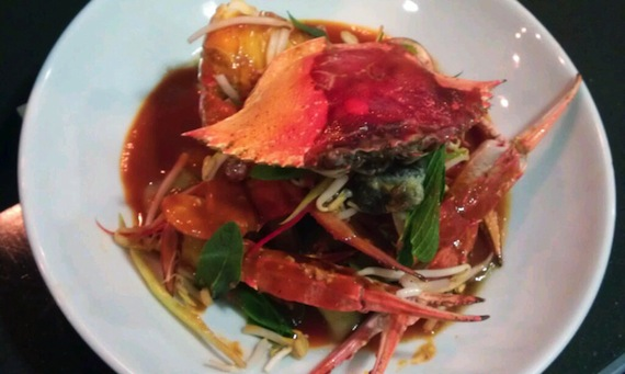Seafood Manly: chilli whole blue swimmer crab