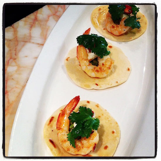 Crows Nest Seafood prawn tacos