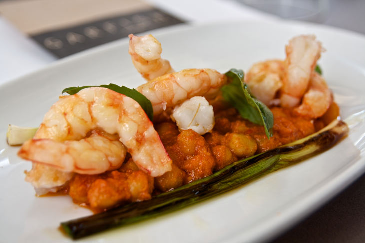kirribilli restaurant grilled king prawns