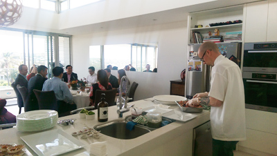 Garfish head chef prepares BBQ lunch for NSW Premier and special guests