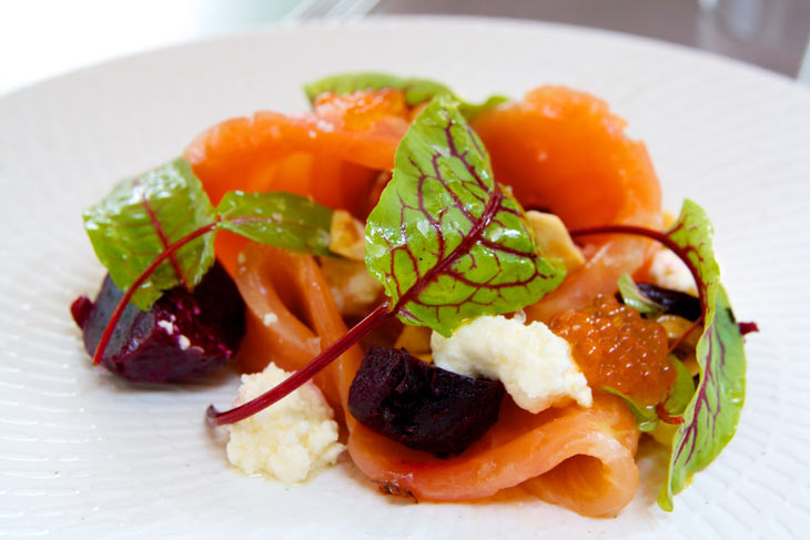 kirribilli seafood restaurant cured atlantic salmon