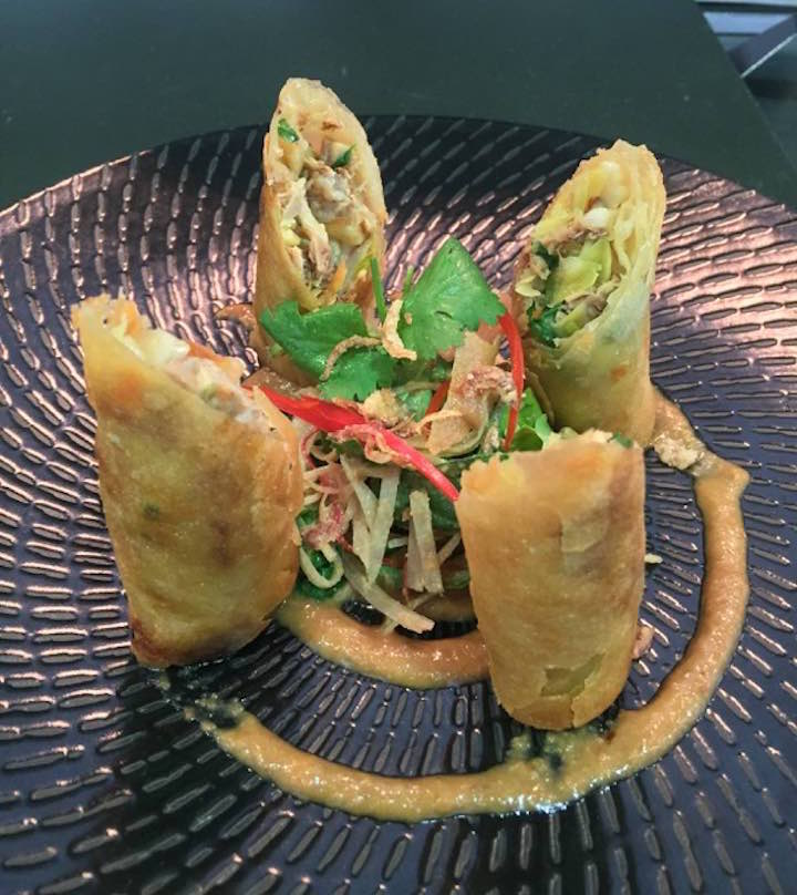 Crisp fried pork spring rolls Manly