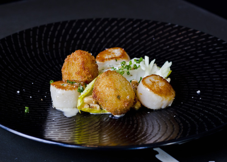 Grilled-Scallops-with-Bone-Marrow-Croquettes