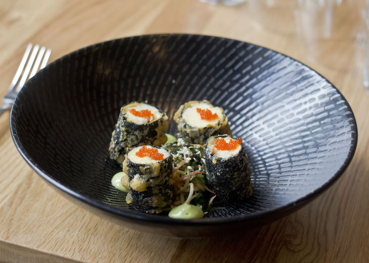 Blue eye trevella and lobster tail nori rolls web