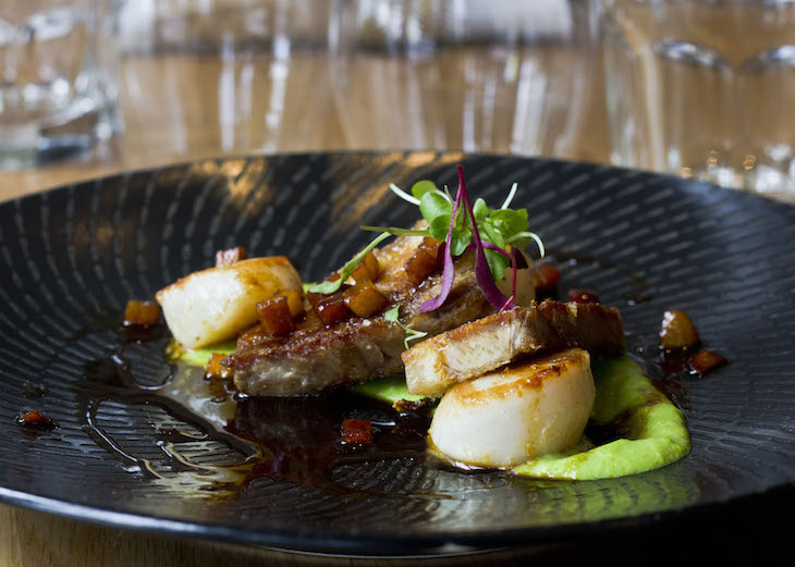 Grilled scallops and pork belly web