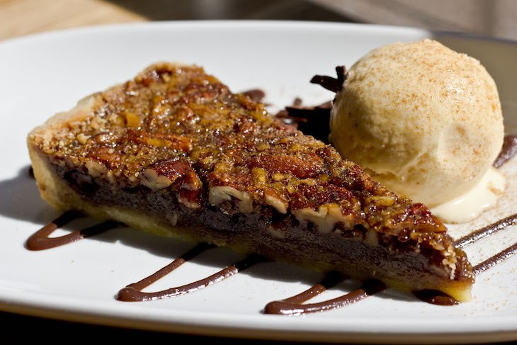 Dark choc pecan pie web