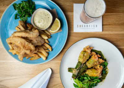 Prix Fixe - Fish & Chips, Zucchini Flowers