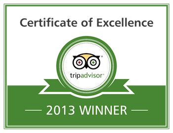 Garfish earns 2013 Trip Advisor certificate of excellence