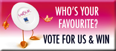 Vote & Win button Savour Australia