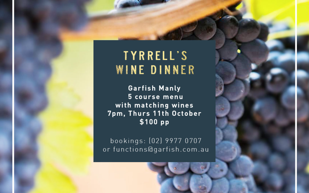 Tyrrell's Wine Dinner