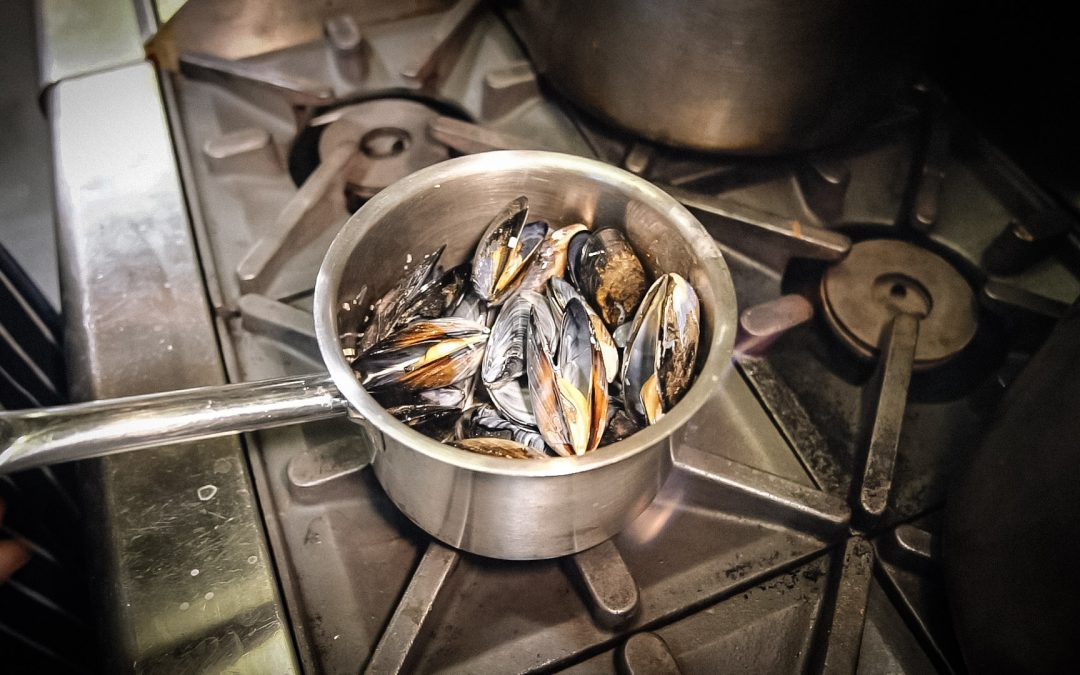 Garfish at Home – Mussels Mariniere